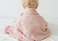 Big soft organic pastel swaddle from baby MORI. Check them out in our shop🍃