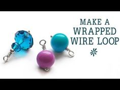 Learn how to create a wrapped wire loop - a basic technique in jewelry-making. Using head pins or eye pins you can make links, earrings, bead dangles etc. in...