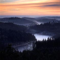 Sunset in Vildmark, Dalsland, Western Sweden