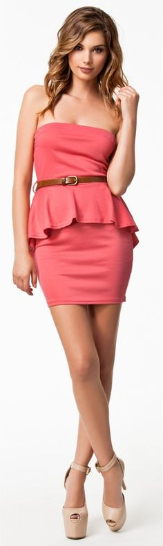 Peplum-Love the dress!  Not so much the shoes though