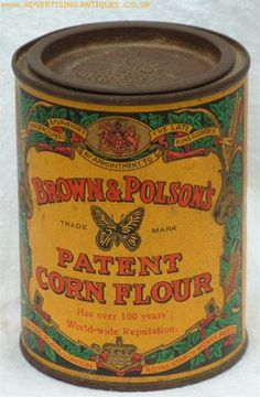(I love old tins) Vintage corn flour tin