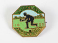 Scottish Bowling Club Badge, Giffnock Bowling Club 1895 Enamel Badge