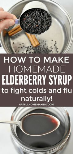 How to make elderberry syrup on the stovetop to help fight colds and flu naturally this winter! this is an easy recipe tutorial for homemade elderberry syrup elderberry elderberrysyrup naturalremedies easy recipes elderberry stovetop syrup Poo Pourri, Herbal Remedies, Natural Remedies, Flu Remedies, Health Remedies, Bloating Remedies, Sleep Remedies, Holistic Remedies, Elderberry Recipes