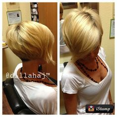 Short asymmetrical....seriously, if I could pull this off and my hair didn't take so long to grow, I'd do this