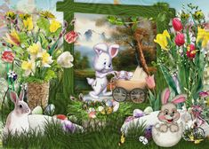 Just Magic, Easter Wishes, Handmade Decorations, Pet Birds, Birthdays, Scrap, Pets, Painting, Image