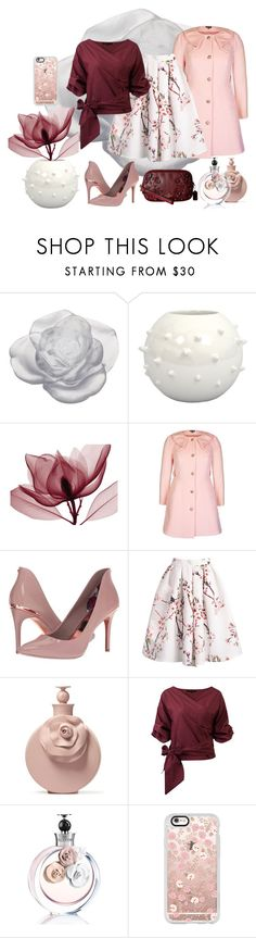 """Flowering Pink"" by loewenangel ❤ liked on Polyvore featuring Daum, City Chic, Ted Baker, Valentino, Casetify, Coach, Spring, floral, Pink and Flowers"
