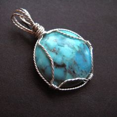 Pendant Tutorial: Wire wrapped cabochon setting