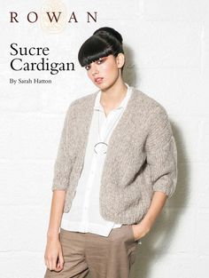 Sucre Cardigan by Sarah Hatton in Rowan Brushed Fleece: http://www.mcadirect.com/shop/rowan-brushed-fleece-p-6638.html Easy Knitting Projects, Knitting Supplies, Knitted Poncho, Chunky Knit Cardigan, Knit Cardigan Pattern, Sweater Patterns, Knit Patterns, Cardigan Sweaters For Women, Women's Cardigans