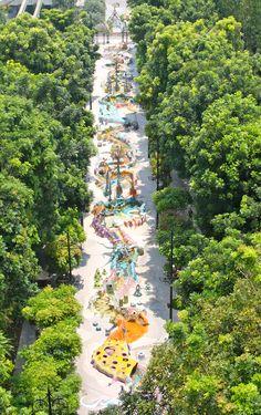 First stop - Shangri-La, Sentosa Beach, Singapore Urban Landscape, Landscape Design, Sentosa Island Singapore, Landscape Architecture, Architecture Design, Singapore Travel, Singapore Singapore, Parque Linear, Cool Playgrounds