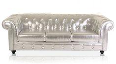 sofa de lujo blanco capitones