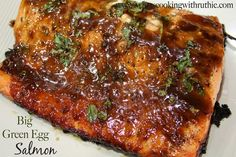 Melt-in-your-mouth Salmon! SO GOOD!! Serves: 8 Ingredients 3 Tbsp brown sugar 1 Tbsp honey 2 tsp sesame oil (or butter) ¼ C Dijon mustard 2 Tbsp soy sauce 2 Tbsp olive oil 1 Tbsp finely grated ginger (or 1 tsp powdered) 2 Tbsp minced fresh basil Olive Oil cooking spray Salt and Pepper 8 salmon fillets (6oz) .