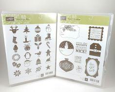 Stampin Up JOLLY BINGO BITS & TAGS TIL CHRISTMAS Stamp Set Pre Owned Holidays #StampinUp