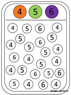 Colore & numero 4-5-6