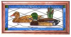 """Mallard Duck CATTAILS RUSTIC Suncatcher Window 11x22 Glass Panel Framed by eEarthExchange. $64.95. Ships within 5 business days via UPS with insurance. Hooks & Chain included. Proudly made in the USA!!. **  ** SHIPS UPS - Order BY DECEMBER 13 for CHRISTMAS DELIVERY **  **. Suncatcher 11.5"""" x 22.5"""" Framed Art Glass Panel. This panel of art glass comes with frame-top hooks & chain for hanging. Like no other product, art glass delivers high visual impact! The ric..."""