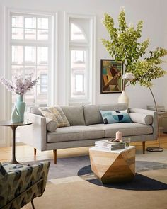 Embrace the clean lines and comfortable colors of west elm's Mid-century style furniture. New shapes, colors + finishes for 2016!: