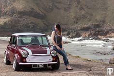photo by andrew forbes Minis, Mini Copper, Classic Mini, Car Girls, Car Stuff, Babys, Truck, Women, Sexy Cars