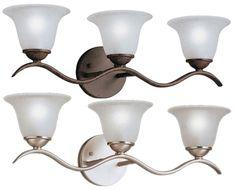 Kichler 6323 Dover Transitional 3 Light 22 Inch Long Bath Lighting - KIC-6323