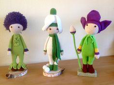 Amigurumi crochet flower dolls made by Elly N - crochet patterns by Zabbez