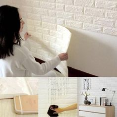 3D Brick Wall Wallpaper - A Little DIY Project to Improve Your Home!