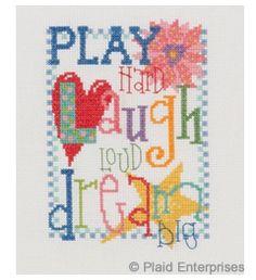 Bucilla ® My Quick Stitch™ - Counted Cross Stitch - Picture Kits - Mini - Play Hard | Plaid Enterprises