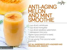 Anti aging melon and mint smoothie