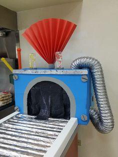 Secret agent kitchen conveyor belt.