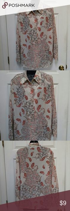 Fashion Bug Paisley Button Down Top Lovely paisley button down top. Light weight fabric. In good condition. Size 18/20. Made from100% polyester. Fashion Bug Tops Button Down Shirts