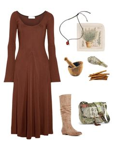 """Herbal Witch No. 4"" by melyanna-info on Polyvore featuring Beaufille, JustFab, BergHOFF, Jayson Home, witch and forestgirl"