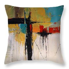 """Falls II 14"""" x 14"""" Throw Pillow by Tia Marie McDermid.  Multiple sizes available."""