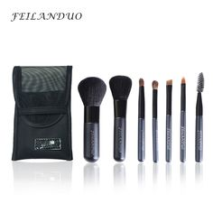 FEILANDUO Professional Makeup Brush Set 7pcs High Quality Wool Fiber Makeup Tools Gift with Wash Soap