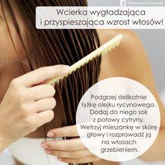 Olejek rycynowy to stary i sprawdzony sposób na piękne i zdrowe włosy. Połącz go z cytryną, a uzyskasz wcierkę, która przyspieszy wzrost włosów. :) Hair Beauty