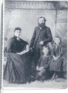 Thomas Lyons, Araminta Keillor and kids, 1887