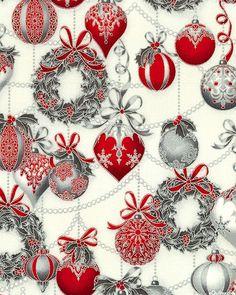 Holiday Flourish 8 - Ornament Garlands - White/Silver