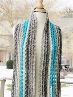 Ocean Waves Scarf, Free Crochet Scarf Pattern Using Caron Cakes Yarn