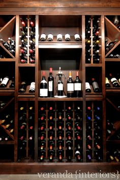 Lynx Ridge {transitional} Wine Room // Veranda Estate Homes & Interiors
