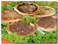 mini pizza with minced meat**