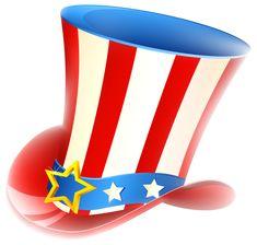 Patriotic Uncle Sam Hat PNG Clipart