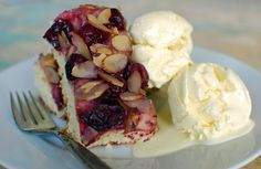 Cherry-Almond Focaccia with Nudo Olive Oil Ice Cream