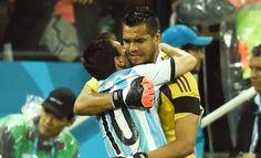 Sergio Romero et Lionel Messi (Argentine)