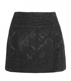 Andy Embroidered Silk-Georgette Wrap Mini Skirt by Isabel Marant