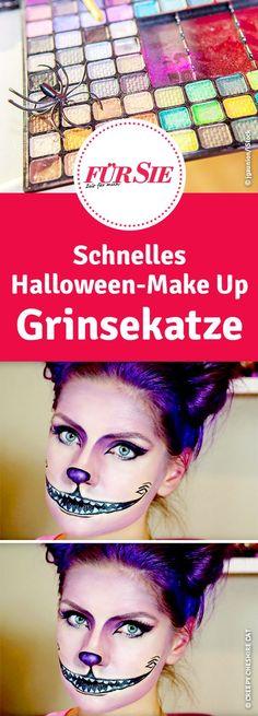 schnelles Halloween-Make Up als Grinsekatze aus Alice im Wunderland