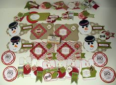 Christmas Taggables | Denise Foor Studio PA  Stampin' Up!