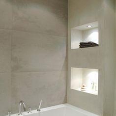 modern bathroom by April and May