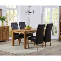 Cambridge Extendable Dining Set with 4 Chairs Home Etc Upholstery Colour: Charcoal Light Oak Dining Table, Extendable Dining Table Set, Simple Dining Table, Oak Dining Sets, Corner Dining Set, Round Dining Set, Dining Area, Kitchen Dining, Light Oak Furniture