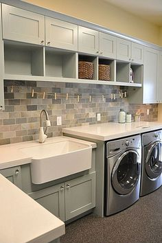 I love the idea of a big laundry room.