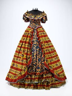 Yinka Shonibare MBE: 'Dressing Down' Wax printed cotton textile, crinoline, aluminum, plastic, felt Collection of Gordon Locksley and George T. Victorian Fashion, Vintage Fashion, Victorian Gown, Art Costume, African Print Fashion, Fashion Beauty, Beauty Style, Dress Up, Gowns