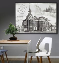 Wooden Architecture, Ancient Architecture, Wooden Buildings, Wooden Art, White Image, Art Nouveau, Craft Supplies, How To Draw Hands, Dining Table