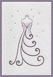 Flower Heart and Prom Dress Prick 'n Stitch Card