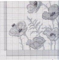 Gallery.ru / Фото #1 - n - zelka Cross Stitching, Cross Stitch Embroidery, Cross Stitch Patterns, Poppies, Needlework, Kids Rugs, Crochet, Diy, Home Decor