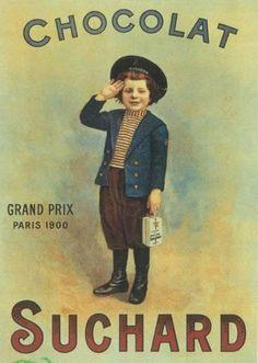 Chocolat Suchard - Old ad Pub Vintage, Vintage Labels, Vintage Cards, Vintage Postcards, French Vintage, Retro Advertising, Retro Ads, Vintage Advertisements, Vintage Pictures